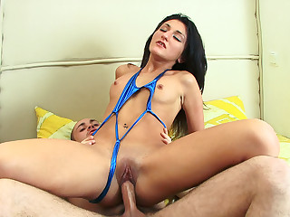 Brunette loves ass riding